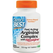 Doctors Best Fast Acting Arginine Complex 60 Tablets - Nitric Oxide Boosters