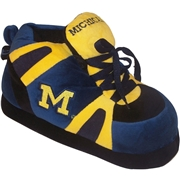 COMFY FEET Mens Michigan Wolverines Shoe Slippers, Size: Large, Blue