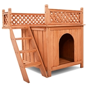Costway Wooden Puppy Pet Dog House