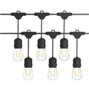 Costway 96 FT LED Outdoor Waterproof Commercial String Lights Bulbs