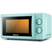 Costway 0.7 Cu. ft Retro Countertop Compact Microwave Oven-Green