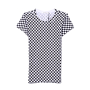 Rag Bone Check Print Tee in White/Black