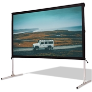 Costway 100 Standing Portable Fast Folding Projector Screen w/ Carry Bag