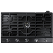 recaro north Samsung NA36N7755TG/AA 36 Power Gas Cooktop with 22 BTU True Dual Burner - Black Stainless Steel