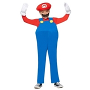 DISGUISE Kids Mario Costume Deluxe- Bros. by Spirit Halloween