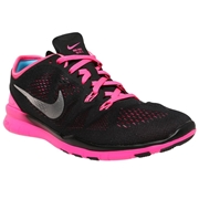 Nike Free TR 5 Womens Training Shoes - Black/Pink; 8
