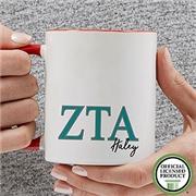 PersonalizationMall Zeta Tau Alpha Personalized Greek Letter Coffee Mug 11 oz.- Red