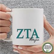 PersonalizationMall Zeta Tau Alpha Personalized Greek Letter Coffee Mug 11 oz.- White