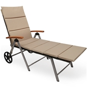 Costway Outdoor Chaise Lounge Chair Rattan Lounger Recliner