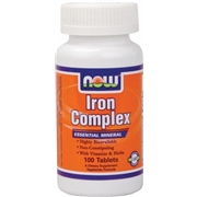 NOW Iron Complex 100 Tablets - Iron