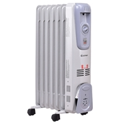 Costway 1500 W 7-Fin Electric Oil Filled Space Thermostat Heater