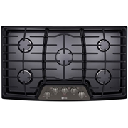 LG LCG3611BD 36? Gas Cooktop w/ SuperBoil Black Stainless Steel