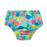 Swim Time Baby Girls Ocean Zoo Reusable Swim Diaper Bottom-XL