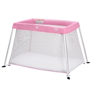 Costway Portable Lightweight Baby Playpen Playard with Travel Bag-Pink