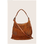True Religion Penelope Fringe Shoulder Bag - Camel