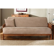 Sure Fit Soft Suede Woven Futon Cover, Taupe