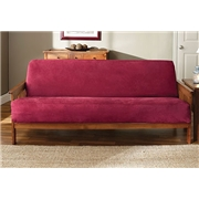 Sure Fit Soft Suede Woven Futon Cover, Burgundy