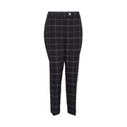 Dorothy Perkins Black Check Print Grid Ankle Grazer trousers