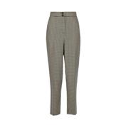 Dorothy Perkins Multi Colour Check Print Straight Leg Trousers
