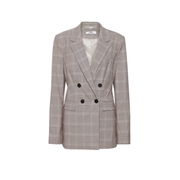 Dorothy Perkins *Tall Beige Check Print Double Breasted Blazer
