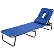 Costway Folding Patio Recliner Lounge Chaise