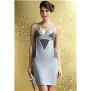 Pink Queen Black Gray Club Party Wear Bandage Dress