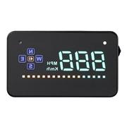 Geyiren A2 3.5 Inch HUD Car Screen Vehicle GPS Head-up Display Overspeed Warning Dashboard Windshield Projector - Black
