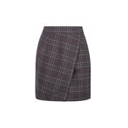 *Vila Brown Check Print Mini Skirt