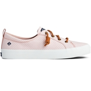 Womens Sperry Crest Vibe Mini Check Sneaker Coral/White, Size 12M