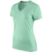 Nike Legend V-Neck Womens Short Sleeve Shirt; Volt; Medium