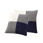 TEXTILES FROM EUROPE Essential Home 2-Piece Suede Decorative Pillow Set, Mineral
