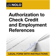 Nolo Official - Authorization to Check Credit and Employment References