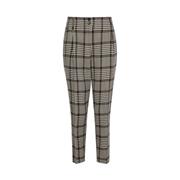 Dorothy Perkins Black   White Check Print Trousers