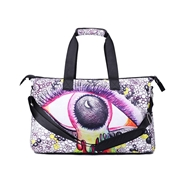 23 geekbuy 3D Creative Printed Moon Eye Pattern Men And Women School Bag Travel Satchel Handbag - Multi Color