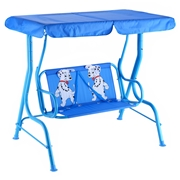 Costway Outdoor Kids Patio Swing Bench with Canopy 2 Seats