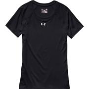 Under Armour Locker T Womens Short Sleeve Shirt; True Gray Heather/Black; Medium