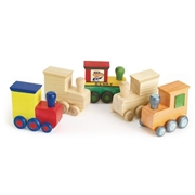 Colorations Decorate Your Own Wooden Trains - Set of 12