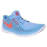 Nike Free 5.0 Youth Training Shoes - Blue Lagoon/Bright Crimson
