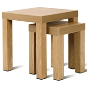 Costway Set of 2 Nesting Living Room Decor Wood Coffee End Table