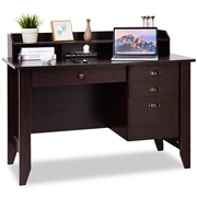 Costway 1 PC Laptop Writing Computer Desk -Brown
