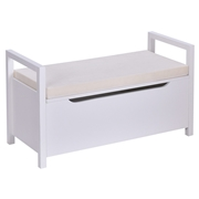 Costway Shoe Bench Hallway Entryway Storage Rack w/ Cushion Seat-White