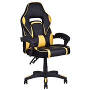 Costway Executive High Back Racing Style PU Leather Gaming Chair-Yellow