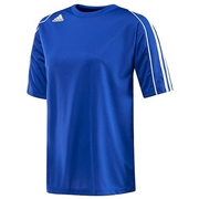 Adidas Squadra II Womens Short Sleeve Shirt; Cobalt/White; X-Small