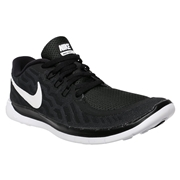 Nike Free 5.0 GS Youth Training Shoes - Black/White; 4.5