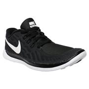 Nike Free 5.0 GS Youth Training Shoes - Black/White; 5.5