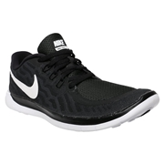 Nike Free 5.0 GS Youth Training Shoes - Black/White; 6.5