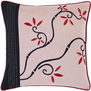 Artistic Weavers FloraG 18 in. x  Decorative Down Pillow, Purples/Lavenders