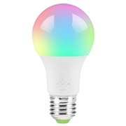 22 geekbuy 2PCS Geekbes E27 Smart WiFi LED Bulb APP Control 1600W RGB Color Light Works with Alexa and Google Home - White