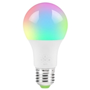 22 geekbuy 2PCS Geekbes E26 Smart WiFi LED Bulb APP Control 1600W RGB Color Light Works with Alexa and Google Home - White