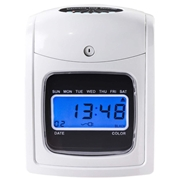 Costway Electronic Recorder Time LCD Display Card Machine
